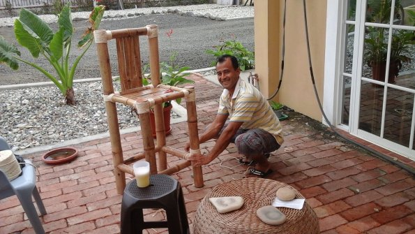 Custom Bamboo Bar Stools