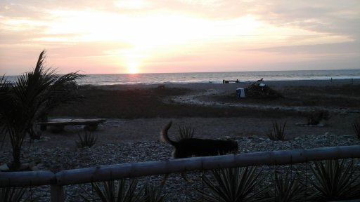 sunset in Puerto Cayo